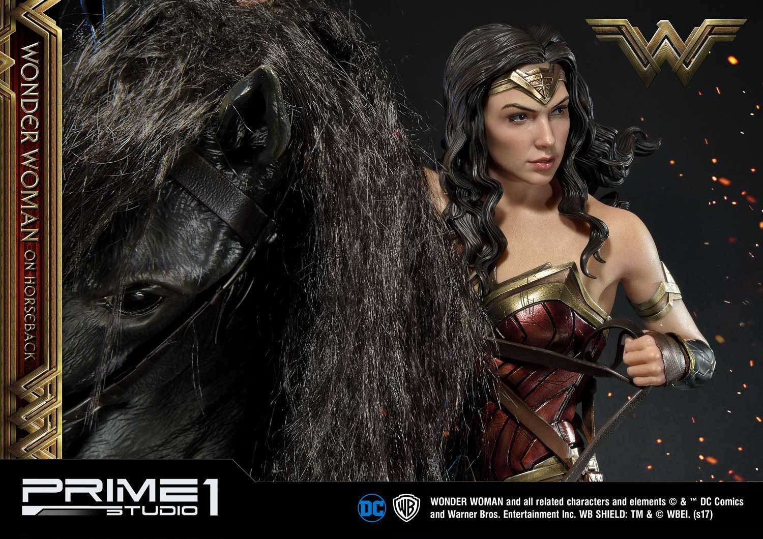 DC Comics - Wonder Woman Movie : Wonder Woman On Horseback 1/3 Scale Museum Masterline statue Mmww-02_b28