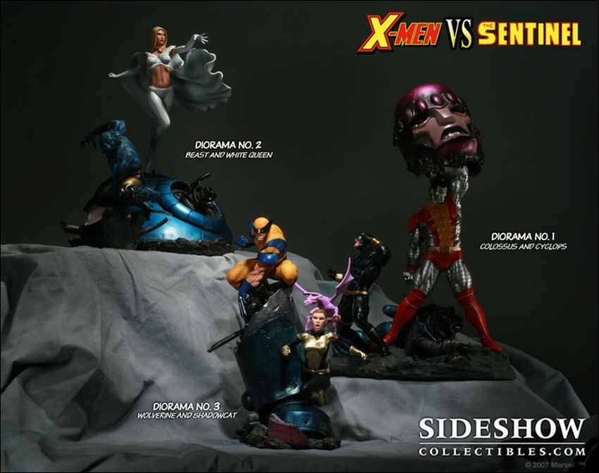 X-MEN VS THE SENTINEL #1 Diorama Sideshow-X-MEN-VS-SENTINEL-1-DIORAMA-9008_press-08