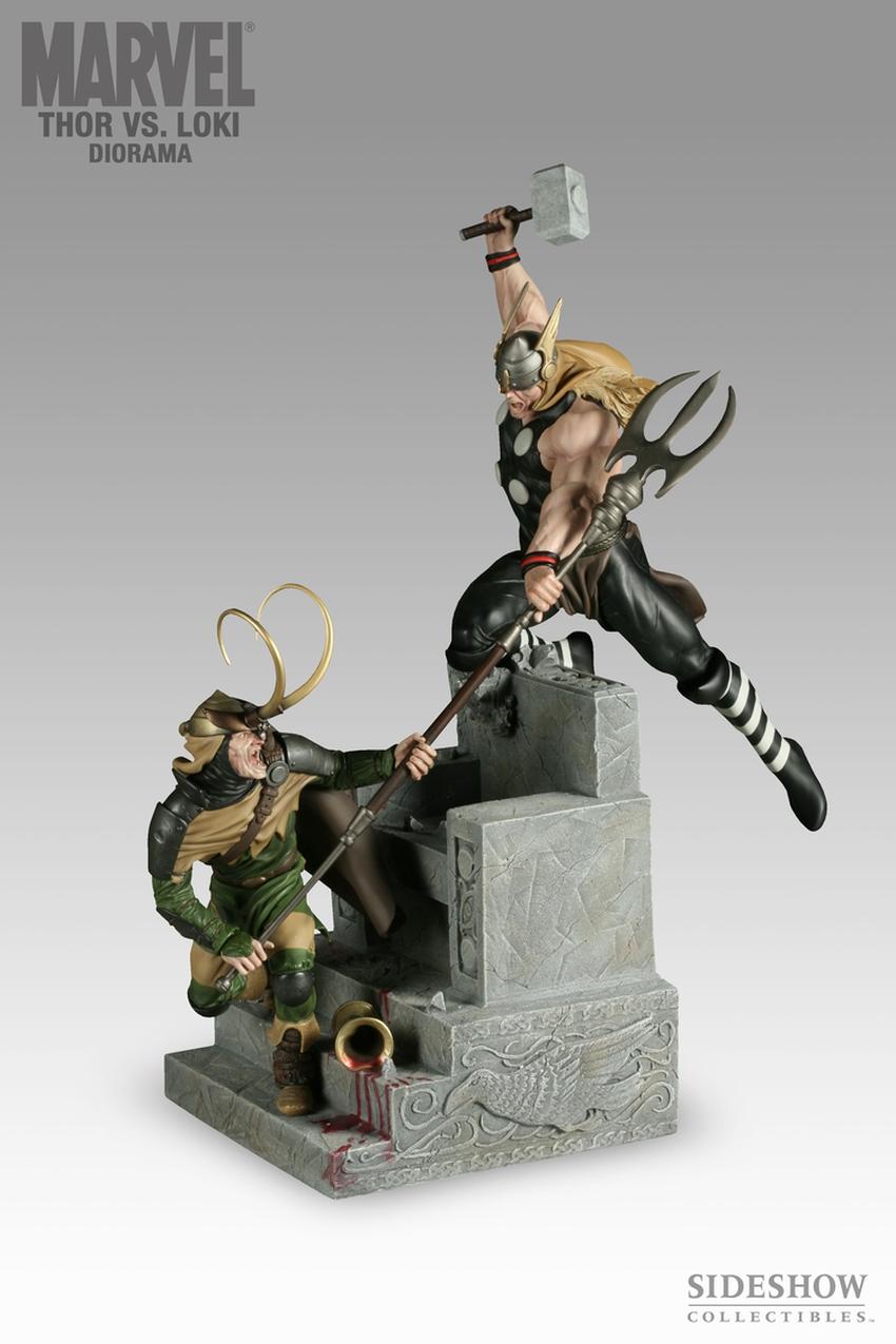 THOR VS LOKI Diorama Sideshow-thor-vs-loki-diorama-9009_press-01