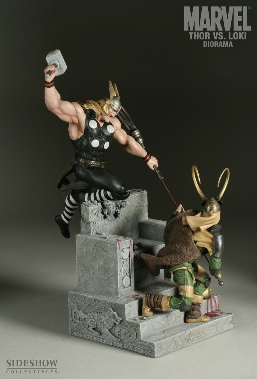 THOR VS LOKI Diorama Sideshow-thor-vs-loki-diorama-9009_press-03