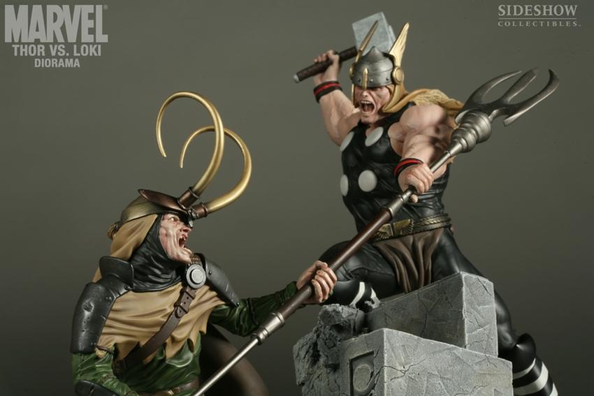 THOR VS LOKI Diorama Sideshow-thor-vs-loki-diorama-9009_press-11