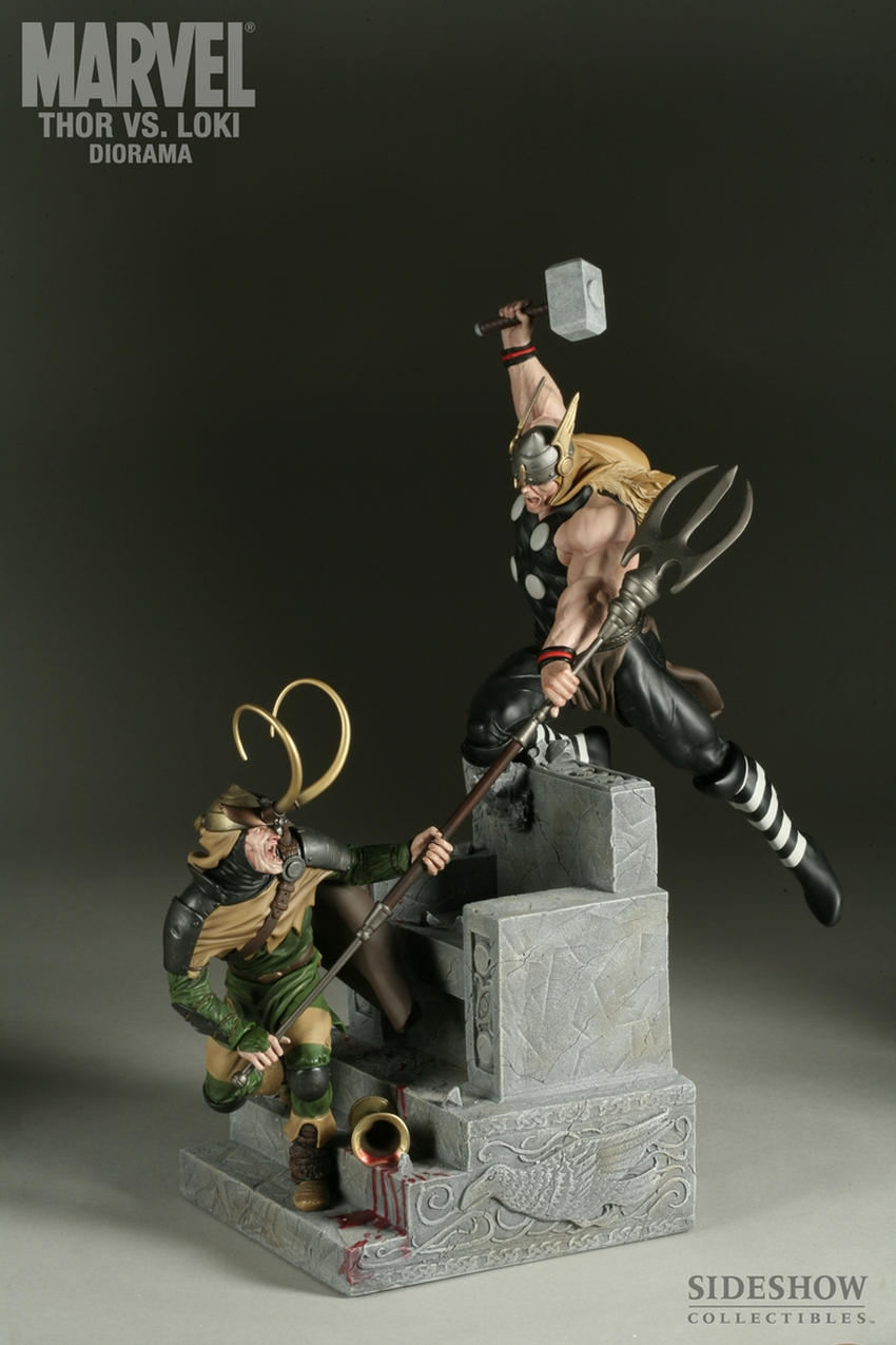 THOR VS LOKI Diorama Sideshow-thor-vs-loki-diorama-9009_press-14