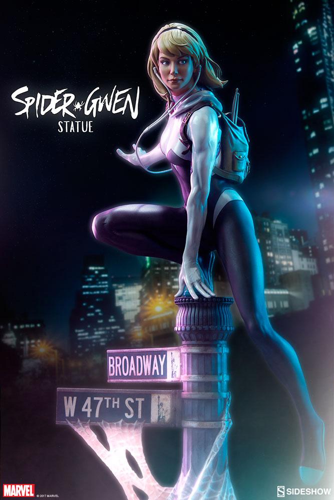 """SPIDER-GWEN """"MARK BROOKS"""" Statue -spider-gwen-statue-sideshow-200507-01"""
