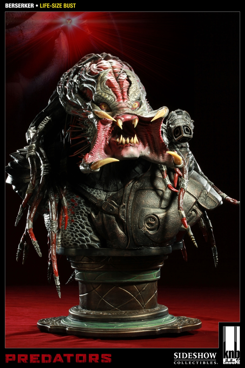 """PREDATORS""  BERSERKER Life size bust The-berserker-predator-400049-press-02"
