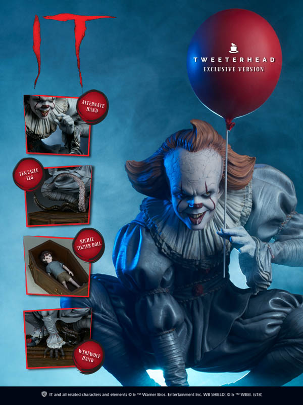 """""""IT"""" Pennywise Maquette Limited Edition Pennywise_02_1538678384"""