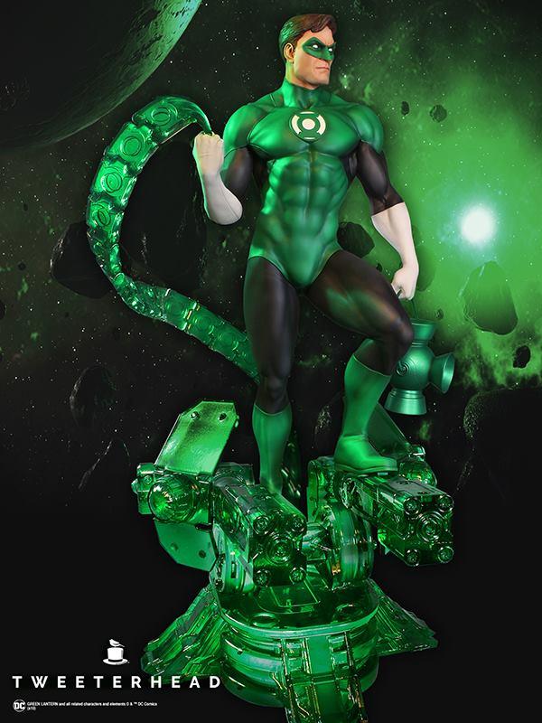 SUPER POWERS GREEN LANTERN MAQUETTE Tweeterhead-Green-Lantern-Statue-001
