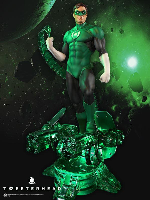 SUPER POWERS GREEN LANTERN MAQUETTE Tweeterhead-Green-Lantern-Statue-002