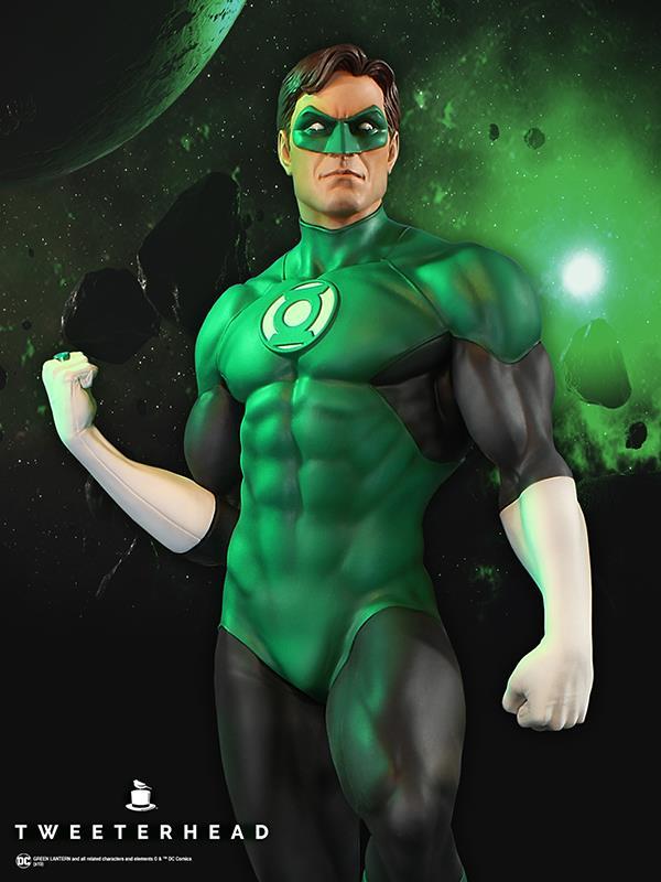 SUPER POWERS GREEN LANTERN MAQUETTE Tweeterhead-Green-Lantern-Statue-004