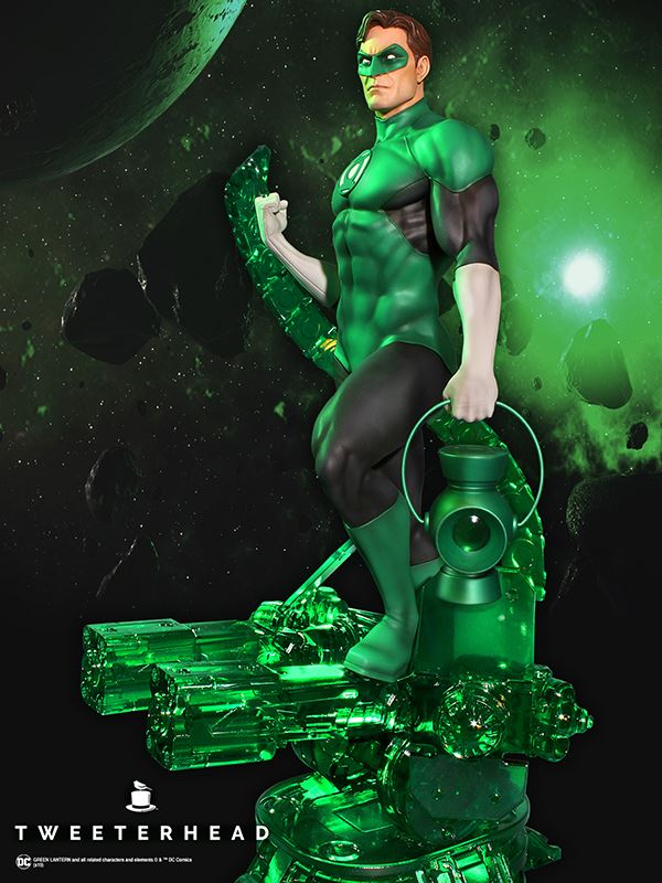 SUPER POWERS GREEN LANTERN MAQUETTE Tweeterhead-Green-Lantern-Statue-006