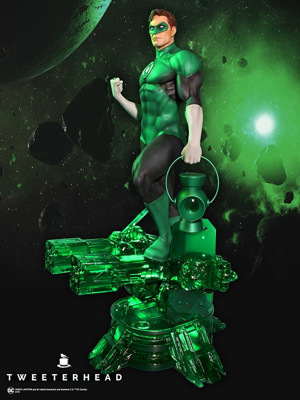 SUPER POWERS GREEN LANTERN MAQUETTE Tweeterhead-Green-Lantern-Statue-007