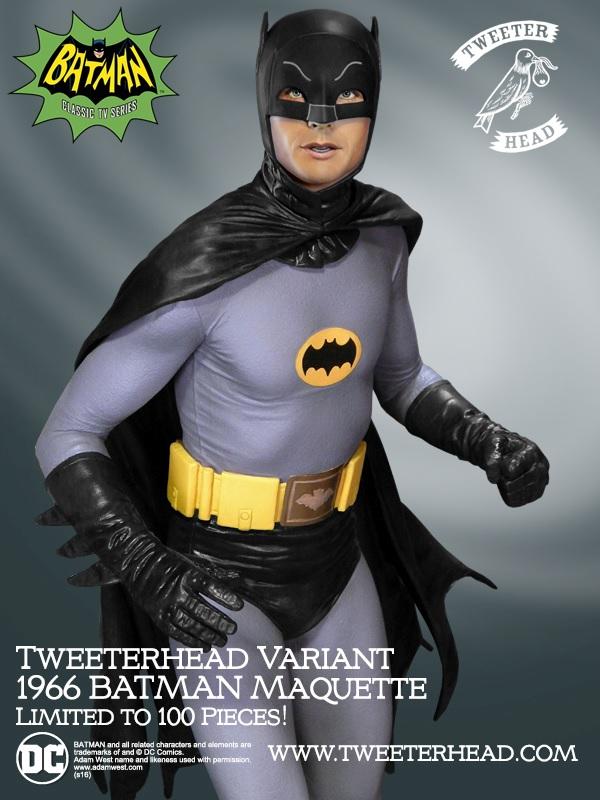 Tweeterhead : Batman '66 Variant Maquette Batman-1966_01
