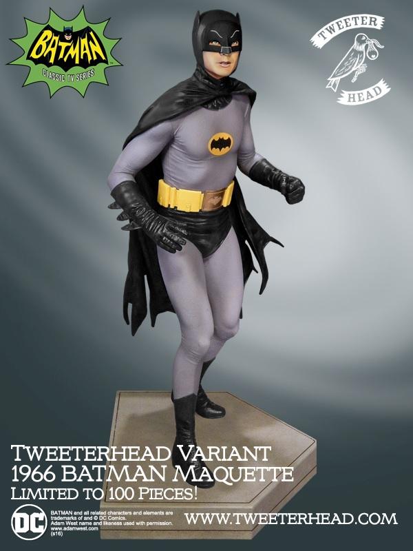 Tweeterhead : Batman '66 Variant Maquette Batman-1966_02
