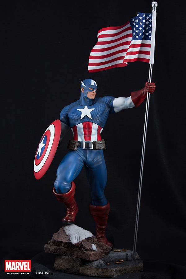Premium Collectibles : Captain America - Comics Version XM-captain-america-premium-01