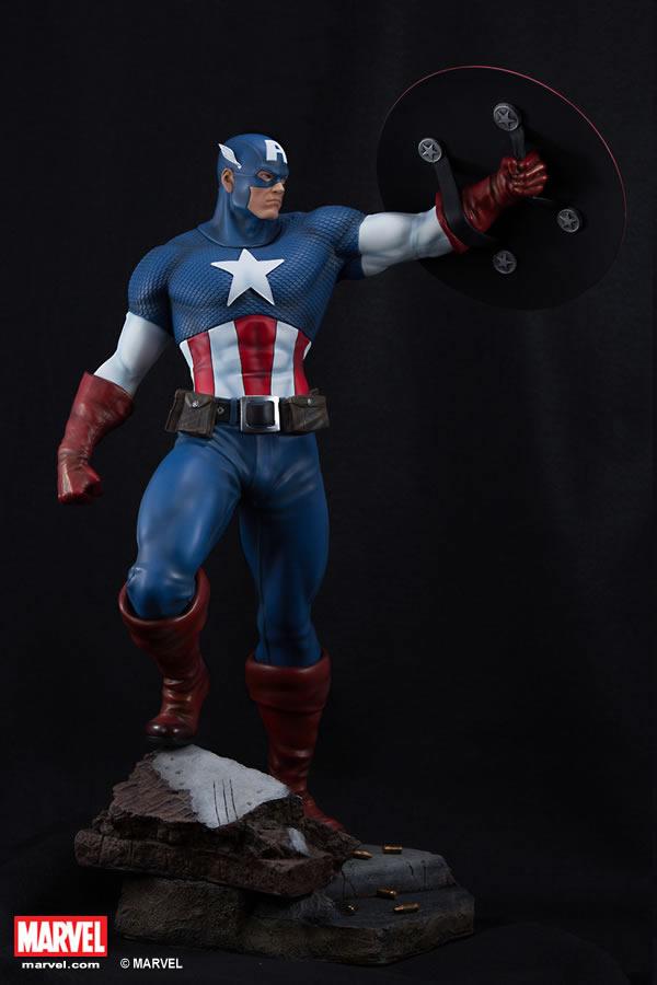 Premium Collectibles : Captain America - Comics Version XM-captain-america-premium-04