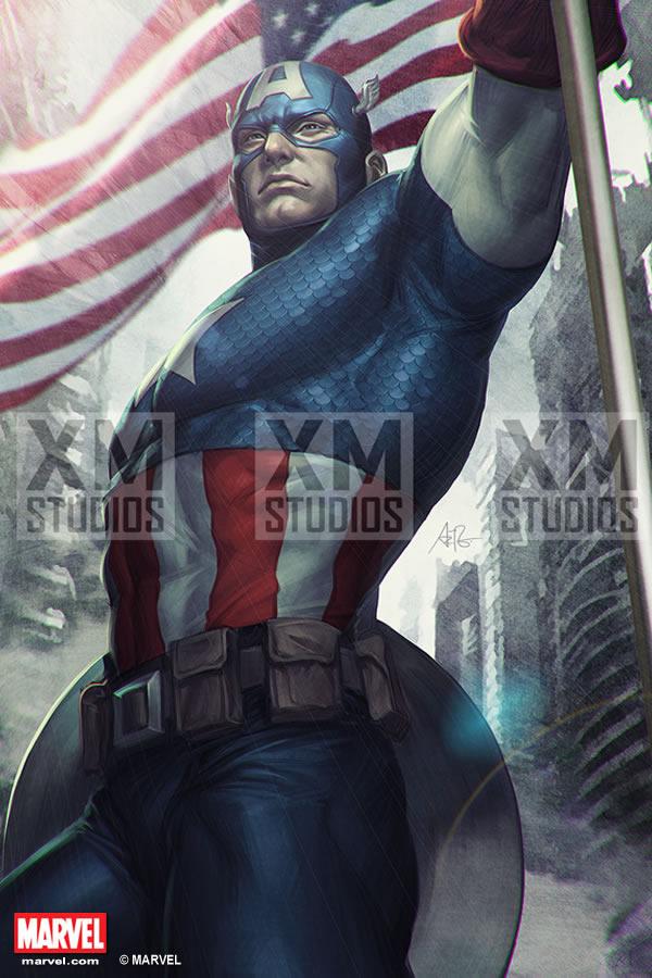 Premium Collectibles : Captain America - Comics Version XM-captain-america-premium-09