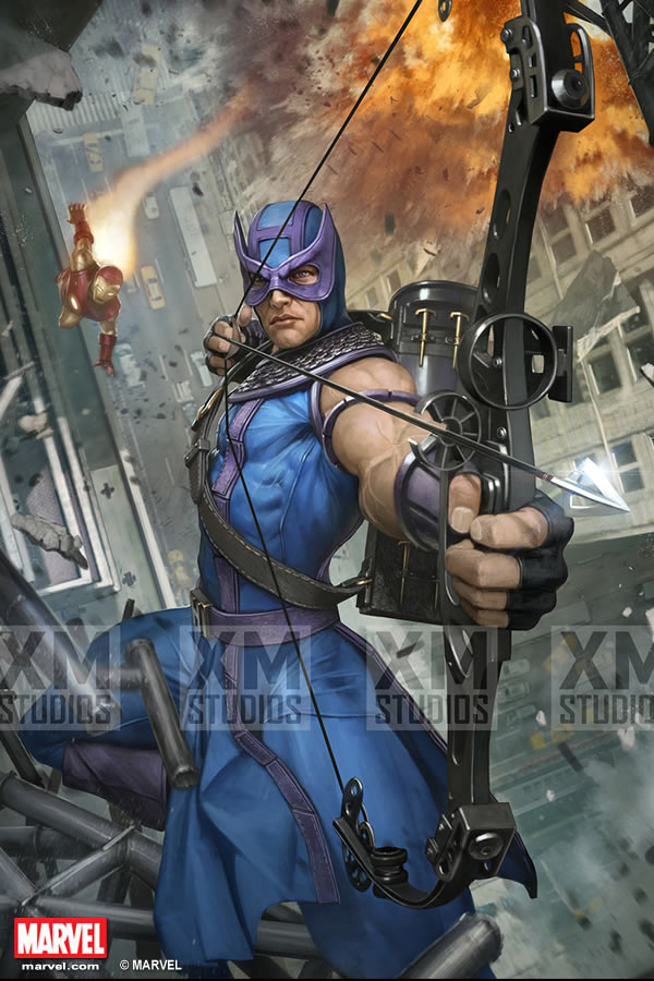 Premium Collectibles : Hawkeye - Comics version XM-hawkeye-premium-11