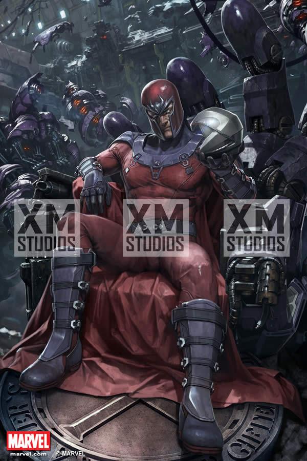 Premium Collectibles : Magneto on Sentinel Throne XM-magneto-on-throne-premium-10