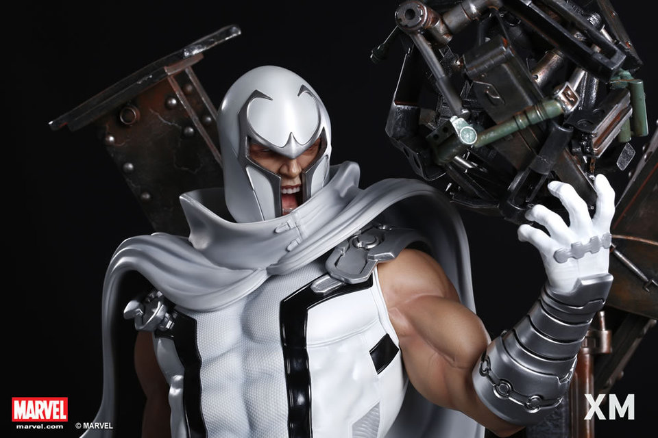 Premium Collectibles : Magneto White Version XM-magneto-white-version-premium-statue-10
