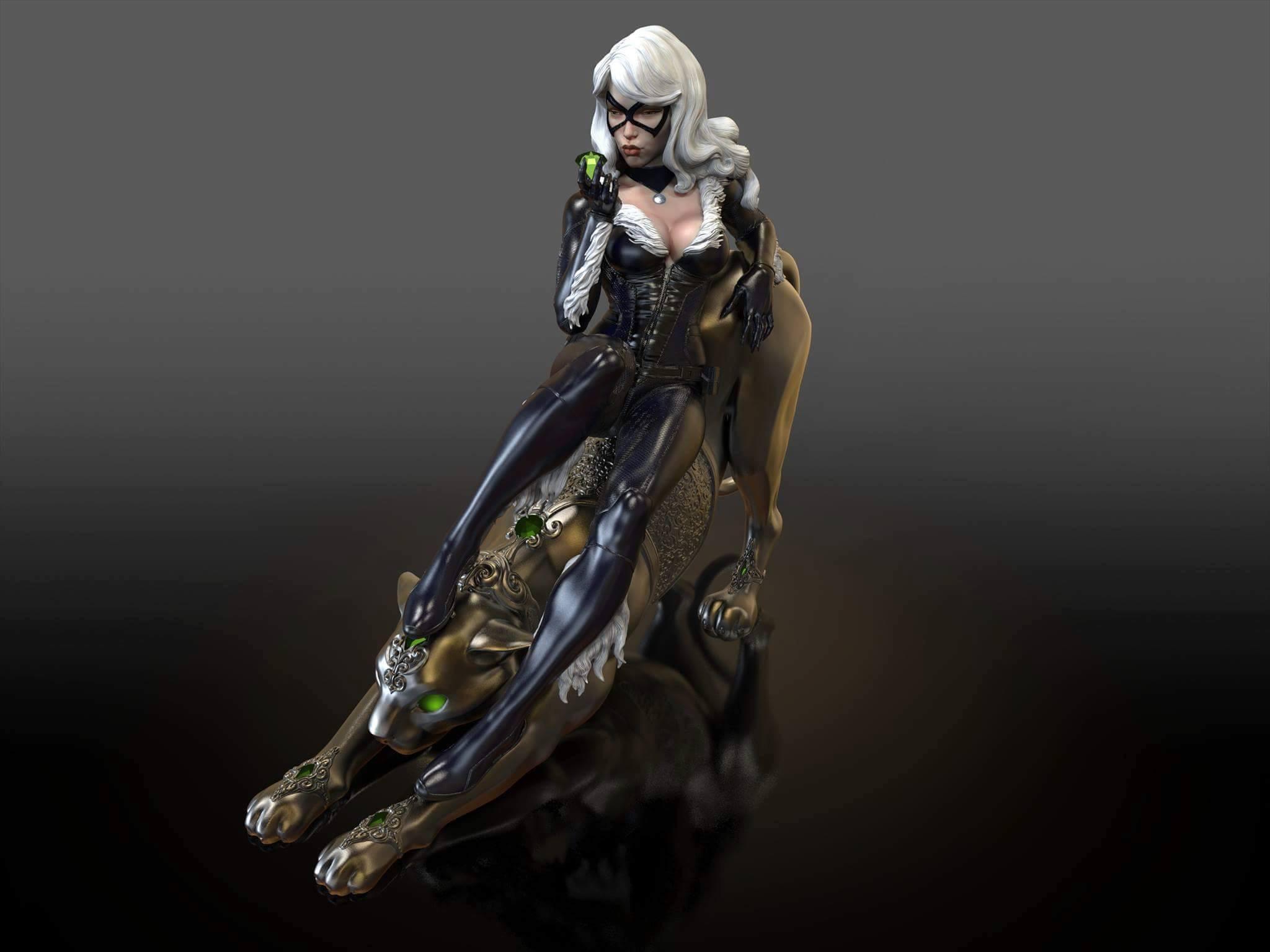 Premium Collectibles : Black Cat Black_cat_09
