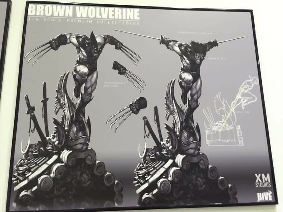 Premium Collectibles : Wolverine brown** Brown_wolverine_01
