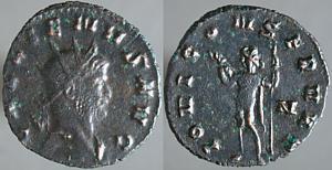 Antoniniano de Galieno. IOVI CONSERVAT. Júpiter a izq. Roma Erf_ri1724t