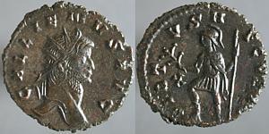 Antoniano de Galieno. VIRTVS AVGVSTI. Marte estante a izq. Roma. Erf_ri1807t
