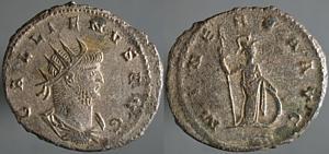 Antoniniano de Galieno. MINERVA AVG. Minerva a dcha. Antioquía Erf_ri1815t