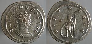 Antoniniano de Galieno. VIRTVS AVG. Antioquía Erf_ri2835t