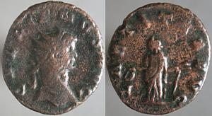 Antoniniano de Galieno. LAETITIA AVG. Roma Erf_ri2943t
