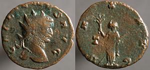 Antoniniano de Galieno. PAX AVG. Pax estante a izq. Roma. Erf_ri3304t