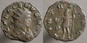 Antoniniano de Galieno. VIRTVS AVG.  Roma Erf_ri3636t