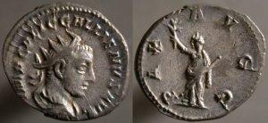Antoniniano de Galieno. PAX AVGG. Paz a izquierda. Roma Erf_ri3749t