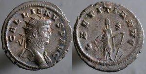 Antoniniano de Galieno. FORTVNA REDVX. Roma Erf_ri3755t