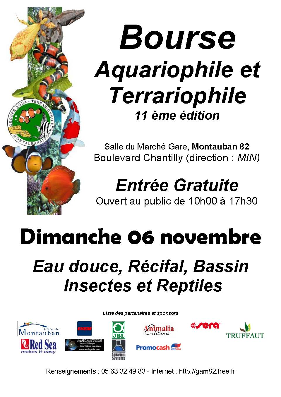 Bourse aquariophile et terrariophile à MONTAUBAN.  Affiche%20bourse%202011