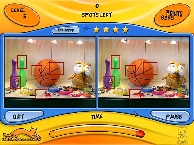 لعبة الفرق بين صورتين هي لعبة التركيز الذهنى Screen2