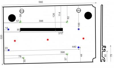 Adapter du Bosch ou du Mafell sur les modules Festool CMS CMS-TS-75-cotes01