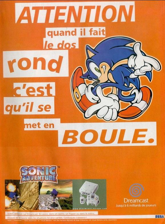 Sonic et la Pub  Sonic-adventure-pub-sega-dreamcast