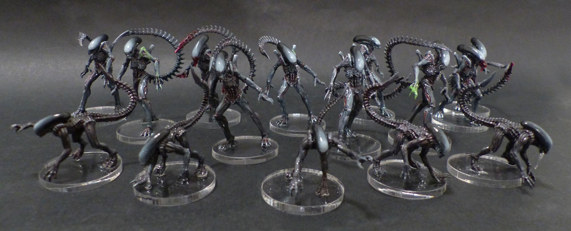Les travaux d'Ivankaiser : ZOMBICIDE, Gohan et sa bande ! Avp-alien