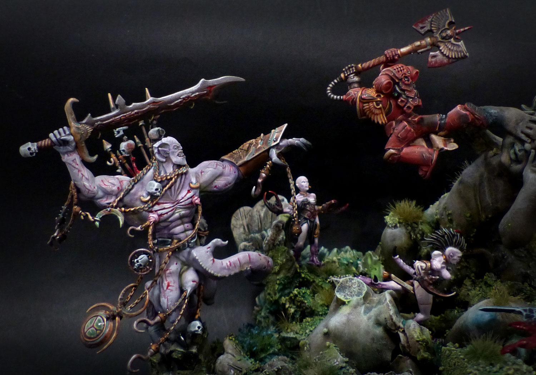 Figurines !! Peintures et sculptures. Blood-angel-diorama-6