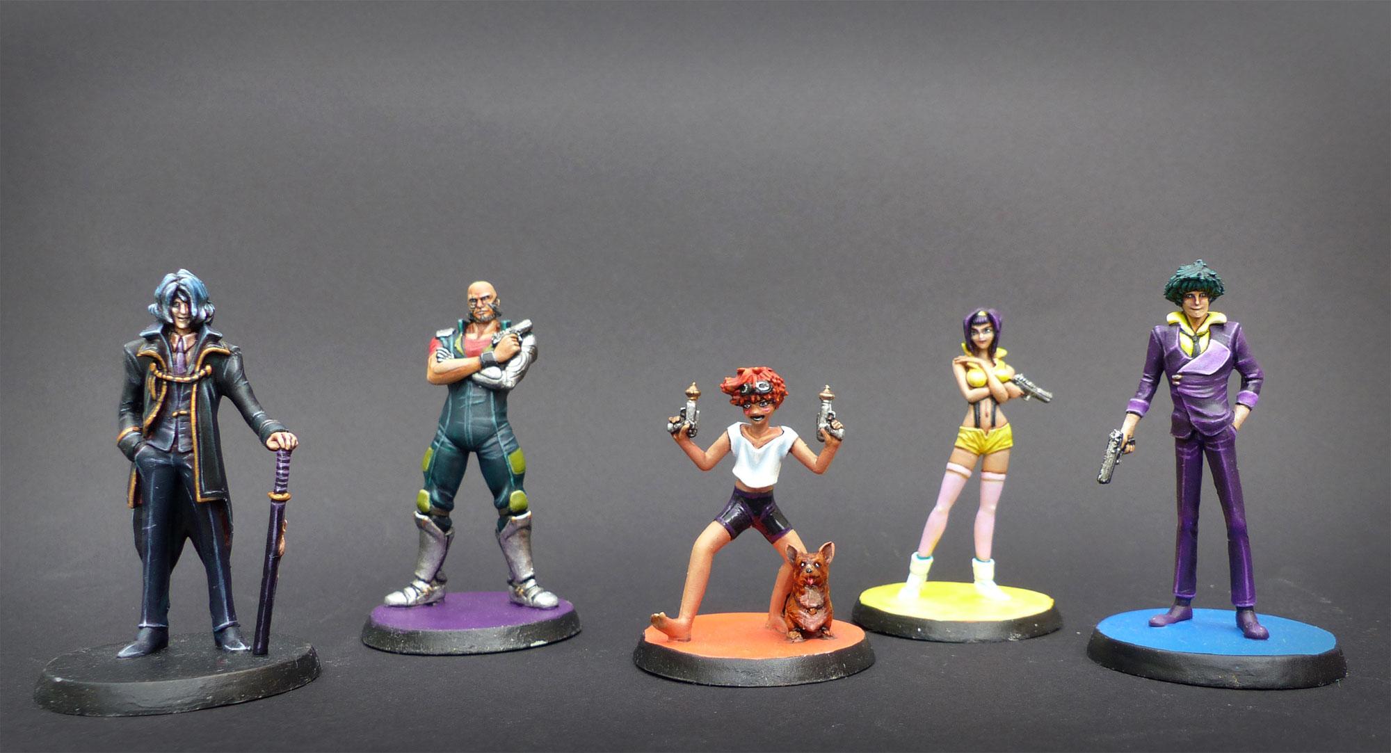 Figurines !! Peintures et sculptures. Cowboy-bebop-groupe