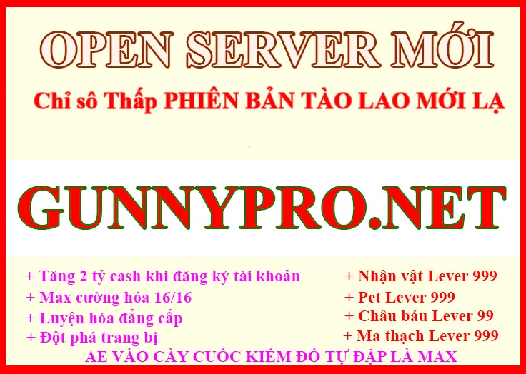 Open server Chỉ Số >> == THẤP== <<CHỨC NĂNG MỚI LẠ FREE 2 TỶ CASH 08388a54-04f9-47d6-bf1b-58e31d1a42ba