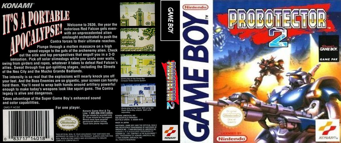 [GAMEBOY] Refaire la jaquette de Probotector 2 (et donc la boite !) Probotector2_GB