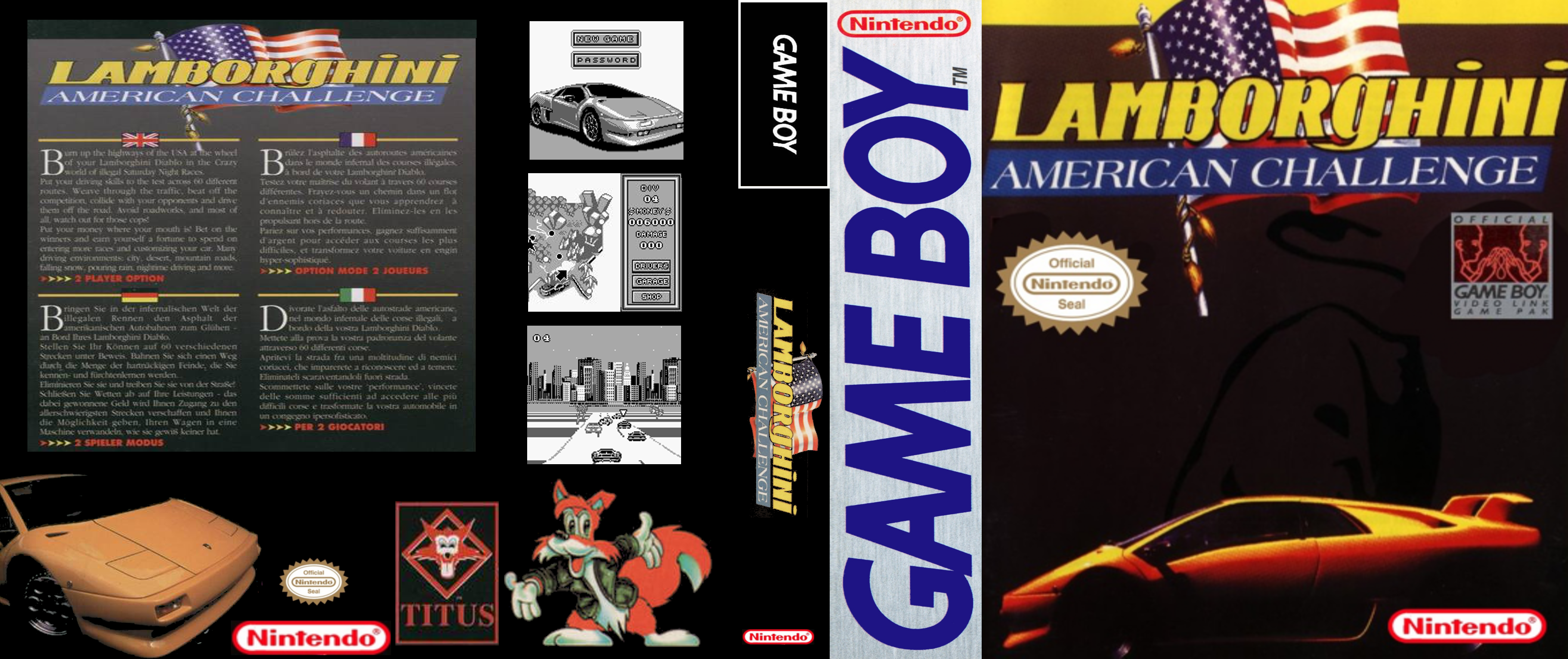 Lamborghini American Challenge Gameboy : cover ! un autre challenge ;) Lamborghini-challenge-gb