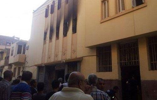 """السيطرة على حريق نشب داخل كنيسة """"مار جرجس"""" للأقباط الكاثوليك بالأقصر 2016-635967492736312546-631"""