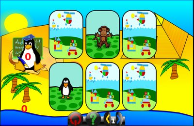GComprisبرنامج تعليمي رائع  لطلاب المرحلة الابتدائية Memory_tux