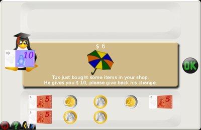 GComprisبرنامج تعليمي رائع  لطلاب المرحلة الابتدائية Money_back