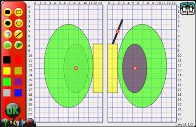 GComprisبرنامج تعليمي رائع  لطلاب المرحلة الابتدائية Redraw_symmetrical