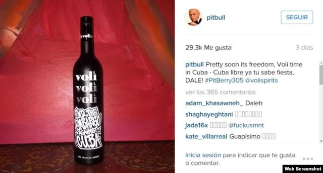 """Anche Pitbull chiede di togliere l'embargo a kuba..dalla """"sua botella """" de vodka 74B5423C-7851-495E-B20B-CFE2911719AD_w640_s"""