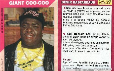 la célébrité de Martin du 23 novembre trouvée par Martine Giant%20coo-coo