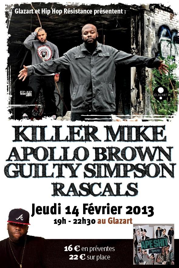 [Paris] Guilty Simpson/Apollo Brown/Killer Mike/Rascals @Glaz'art [14/02] Brown-jpeg
